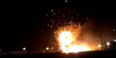 В военной части в Буйнакске, Дагестан, ночью загорелся и взорвался танк - Видео 8.04.2021 - ТЕЛЕГРАФ