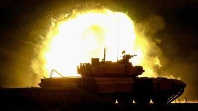 Названа предварительная причина возгорания танка в воинской части в Дагестане