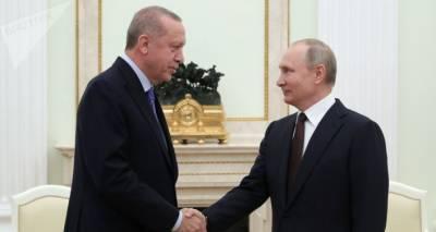 Путин провел переговоры с Эрдоганом и обсудил с ним ситуацию в Карабахе