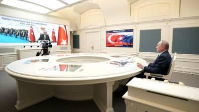 """Путин и Эрдоган обсудили совместное производство вакцины """"Спутник V"""""""