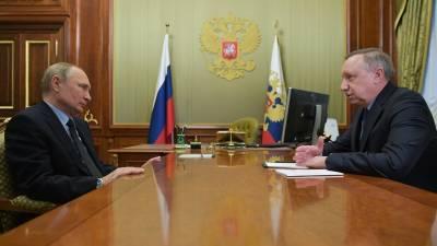 """Путин отметил юбилей Беглова орденом """"За заслуги перед Отечеством"""" II степени"""