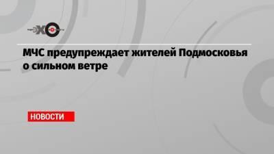 МЧС предупреждает жителей Подмосковья о сильном ветре