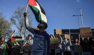 Как в Европе и США протестуют в поддержку Палестины