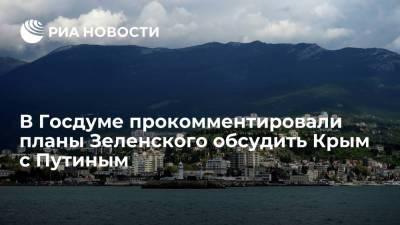 В Госдуме прокомментировали планы Зеленского обсудить Крым с Путиным