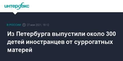 Из Петербурга выпустили около 300 детей иностранцев от суррогатных матерей