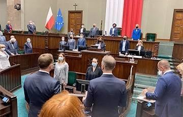 Сейм Польши принял резолюцию по Беларуси с призывом ввести экономические санкции