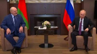 """Путин встретился с Лукашенко в Сочи и назвал ситуацию вокруг Беларуси """"всплеском эмоций"""""""