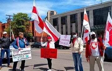 Жители Оттавы вышли на акцию солидарности со свободной Беларусью