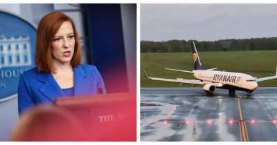 США вводят санкции против Беларуси из-за принудительной посадки самолета Ryanair
