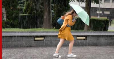 МЧС предупредило москвичей о дожде, сильном ветре и грозе