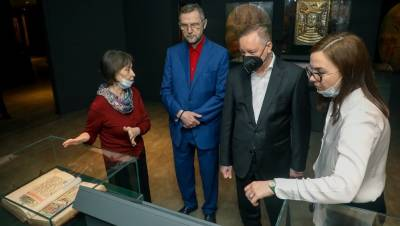 Беглов и Голощапов открыли Музей христианской культуры в Петербурге