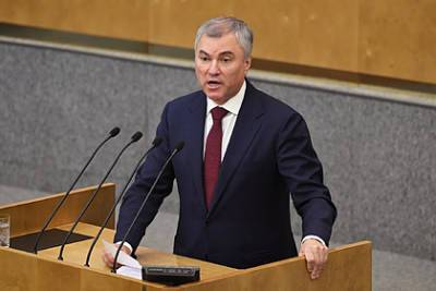 Володин заявил о давлении Европарламента на Байдена перед встречей с Путиным