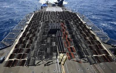 Военные США перехватили корабль с российским и китайским оружием на борту (ВИДЕО) и мира