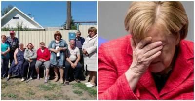 Жители деревни под Омском попросили Ангелу Меркель отремонтировать им дорогу