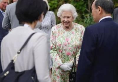 Королева Елизавета II посетила прием в Корнуолле для лидеров стран «Большой семерки». ФОТО