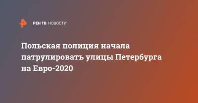 Польская полиция начала патрулировать улицы Петербурга на Евро-2020
