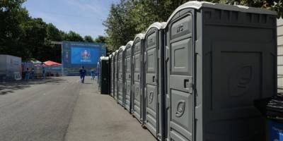 Для болельщиков Евро-2020 привезли дополнительные туалеты