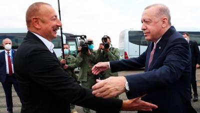 Алиев встретил Эрдогана в карабахском Физули