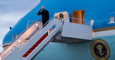 """""""Борт №1"""" уже в Женеве: Байден прилетел на встречу с Путиным (фото)"""