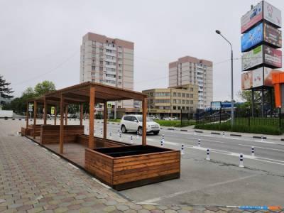 В Южно-Сахалинске появился парклет с видом на велополосу