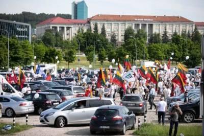 Полиция оштрафует организаторов митинга возле Сейма Литвы
