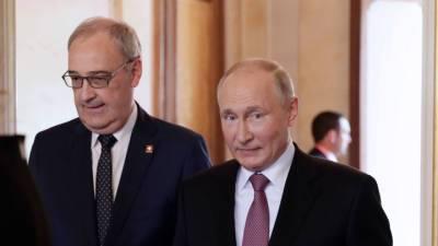 На вилле La Grange Путина встретил президент Швейцарии