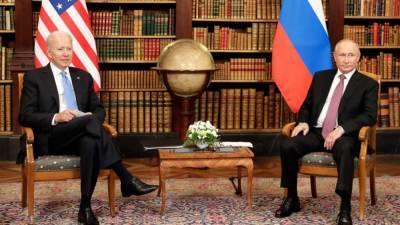 В Женеве стартовали переговоры Путина и Байдена