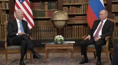 Песков сообщил о завершении первой части саммита Путина и Байдена