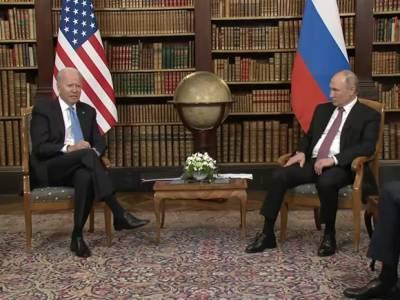 Песков объявил о завершении первого раунда переговоров Путина с Байденом
