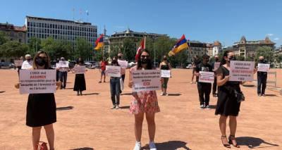 Подумайте, что происходит в Карабахе - демонстранты в Женеве обратились к Путину и Байдену