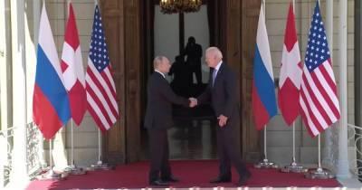 Встреча Байдена и Путина - видео рукопожатия президентов США и России