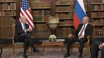 Путин: Байден на встрече в Женеве затрагивал тему прав человека