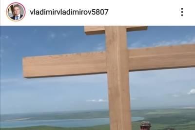 Губернатор показал установку нового креста на Беспутской поляне в Ставрополе