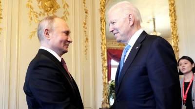 Путин рассказал, что Байден взвешенный и конструктивный собеседник