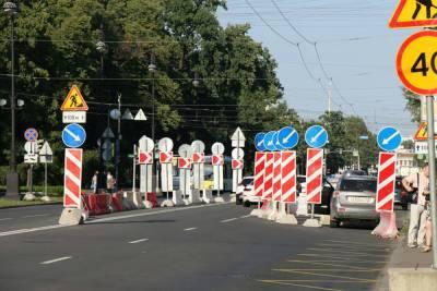 Ремонт тротуаров ограничит движение на улицах Петроградской и Центрального района Петербурга