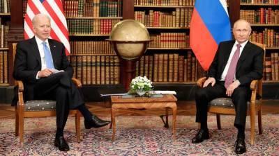 Белый дом заявил, что Байден бросил Путину вызов по ряду вопросов на встрече в Женеве
