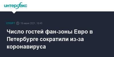Число гостей фан-зоны Евро в Петербурге сократили из-за коронавируса