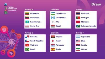 Узбекистан поборется с Россией за выход в плей-офф на чемпионате мира по мини-футболу