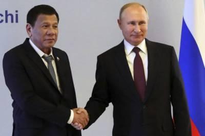 Путин договорился с президентом Филиппин о поставке российских вакцин