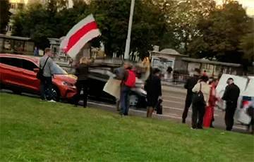 Жители Серебрянки вышли на акцию солидарности