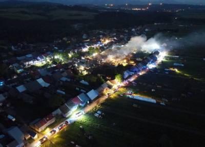 Крупный пожар в Польше: более 100 человек остались без крова, 9 человек пострадали