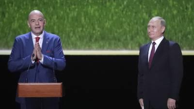 Песков анонсировал встречу Путина с главой ФИФА Инфантино