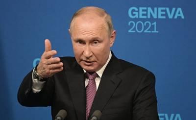 Американцы об ответе Путина на вопрос о правах человека: Путин, в отличие от Байдена, отвечал не с телесуфлера и на все вопросы подряд