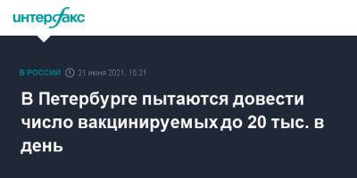 В Петербурге пытаются довести число вакцинируемых до 20 тыс. в день