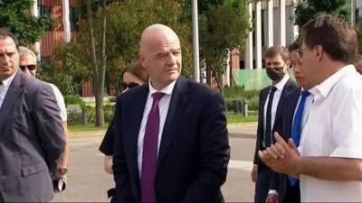 Владимир Путин принял в Кремле президента FIFA Джанни Инфантино