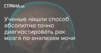 Ученые нашли способ абсолютно точно диагностировать рак мозга по анализам мочи