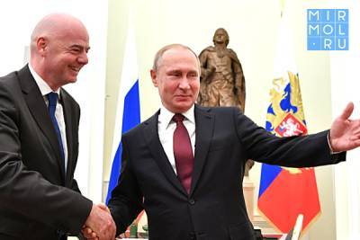Президент России Владимир Путин встретился с главой ФИФА Джанни Инфантино