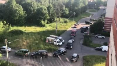 Красногвардейский район Петербурга встал в пробках из-за дорожных работ
