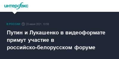 Путин и Лукашенко в видеоформате примут участие в российско-белорусском форуме