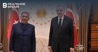 Минниханов встретился с президентом Турции с Реджепом Тайипом Эрдоганом